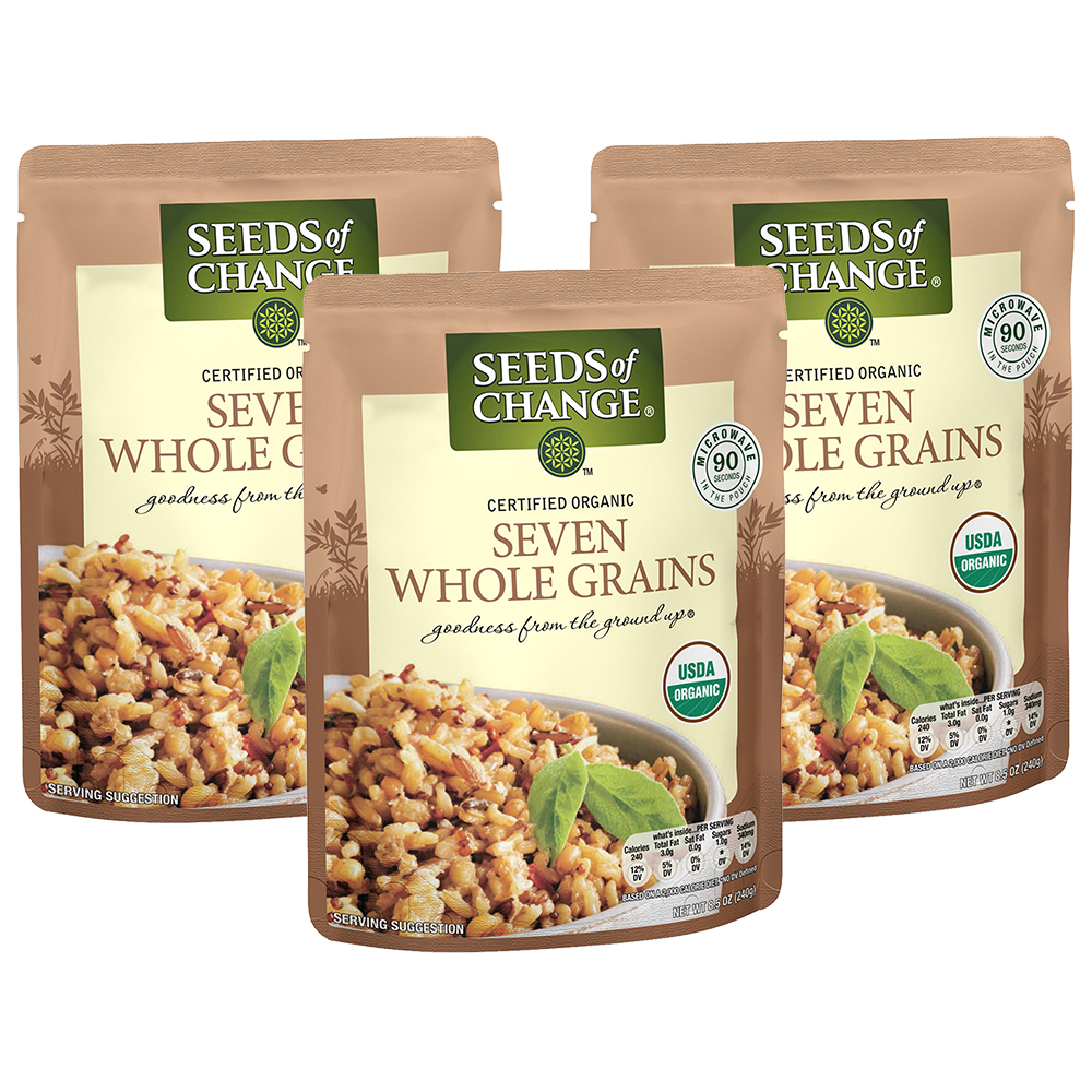 (3 Pack) SEEDS OF CHANGE Organic Seven Whole Grains, 8.5oz