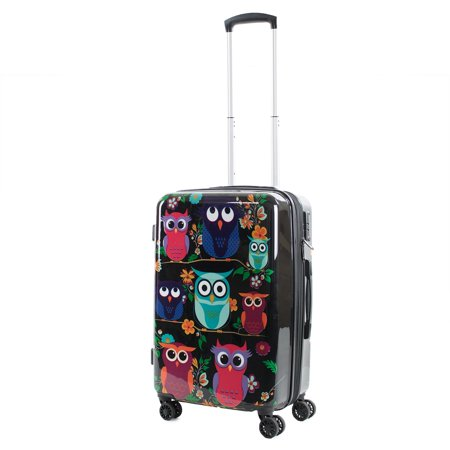 American Green Travel AGT Owls 20-inch Carry-On TSA Lock Expandable Spinner