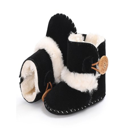 Cute Boy Girls Baby Soft Sole Snow Boots Soft Crib Shoes Toddler Boots