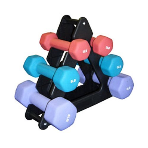 Amber Sports 32 lb. Neoprene Dumbbell Set