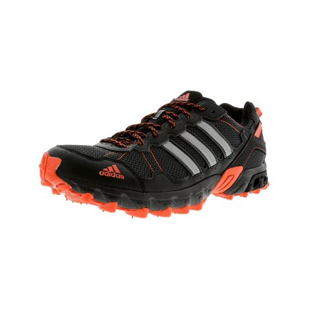 Adidas Men's Rockadia Trail Black / Energy Red Ankle-High Running Shoe - 11.5M