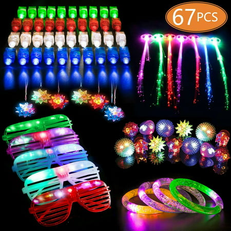 Glow In The Dark Favors (67 PCs LED Light Up Toys Party Favors Glow in the Dark Party)