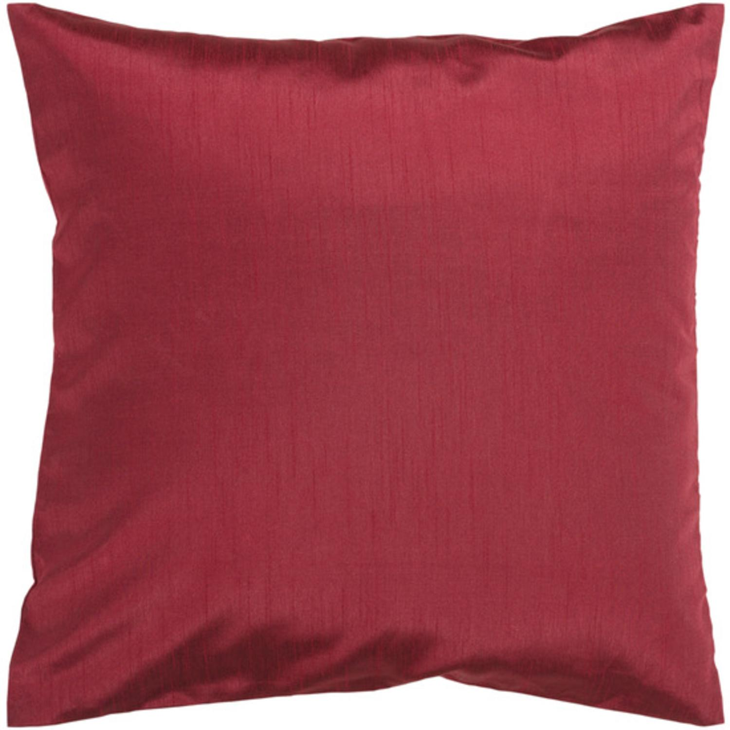"""18"""" Shiny Solid Lipstick Red Decorative Down Throw Pillow"""