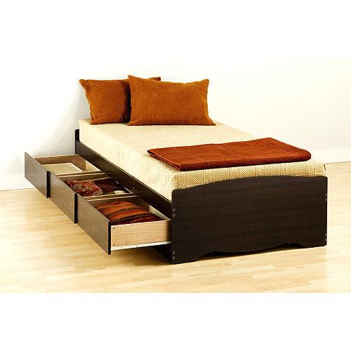 Edenvale Twin Platform Storage Bed, Espresso by Prepac Manufacturing Ltd