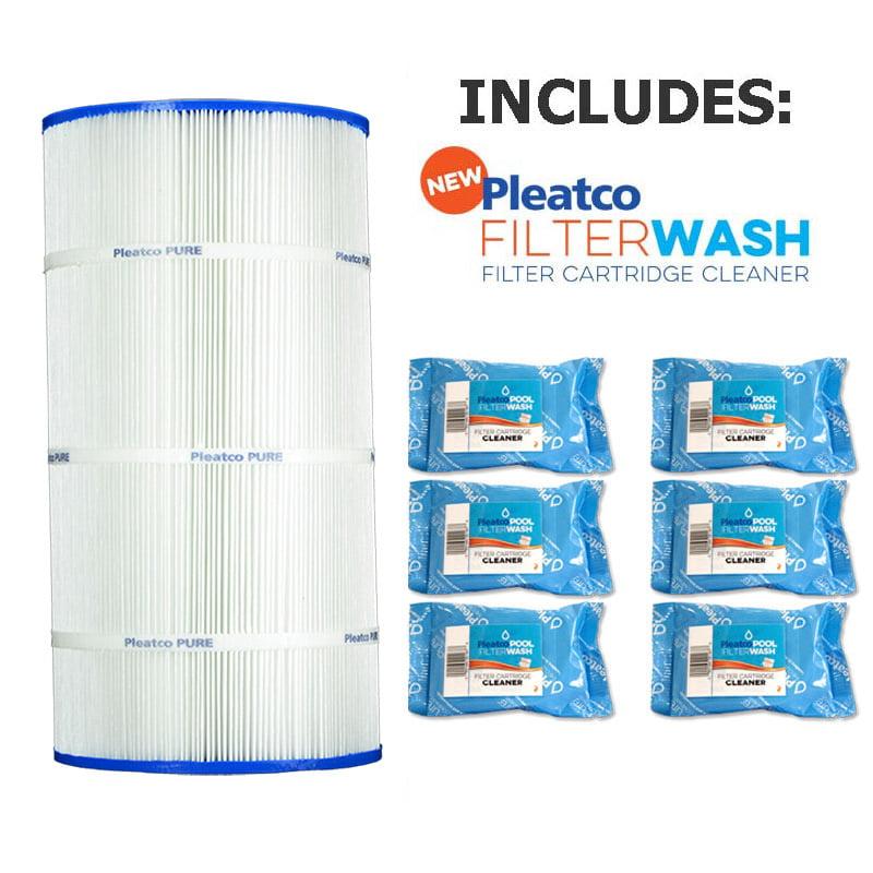 Pleatco Cartridge Filter PA90 90sqft Hayward C900 CX900RE Sta-Rite PXC-95 w/ 6x Filter Washes