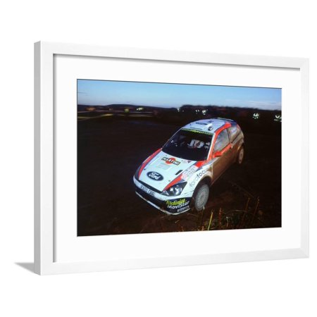 2002 Ford Focus RS WRC, Colin McRae.Network Q Rally Framed Print Wall Art ()