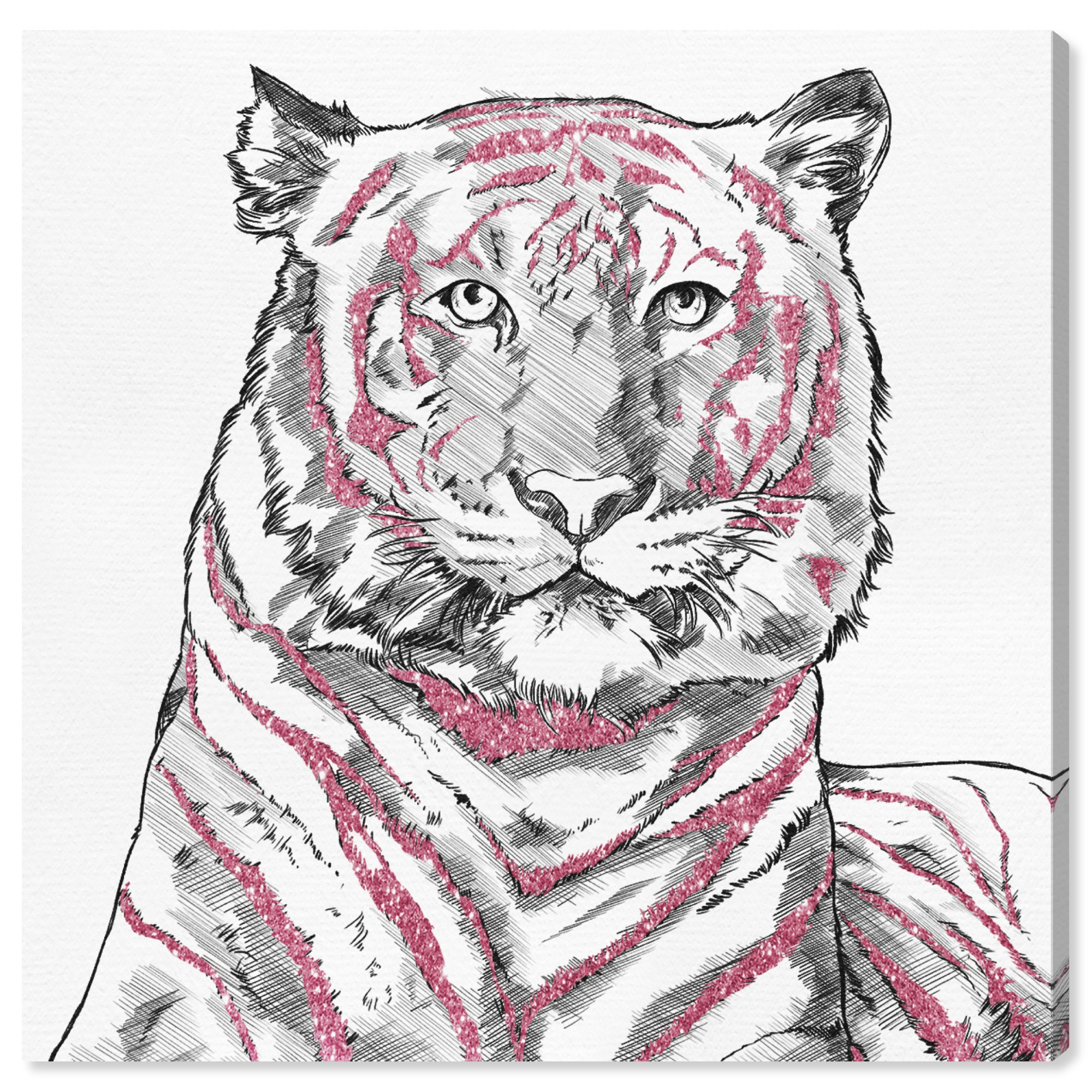 ARTCANVAS Tiger Animal Canvas Art Print