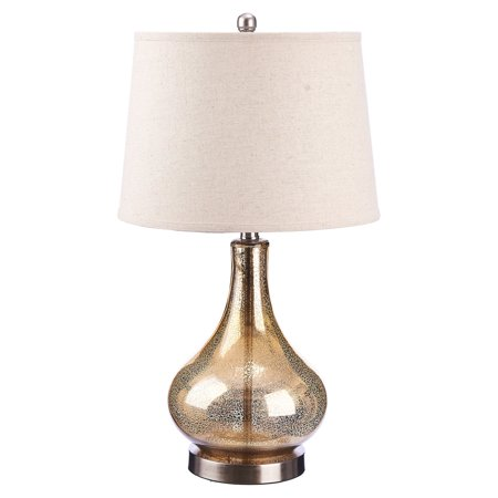 Cresswell Lighting 3-Way Gold Mercury Glass Gourd Table Lamp (Glasses Light)