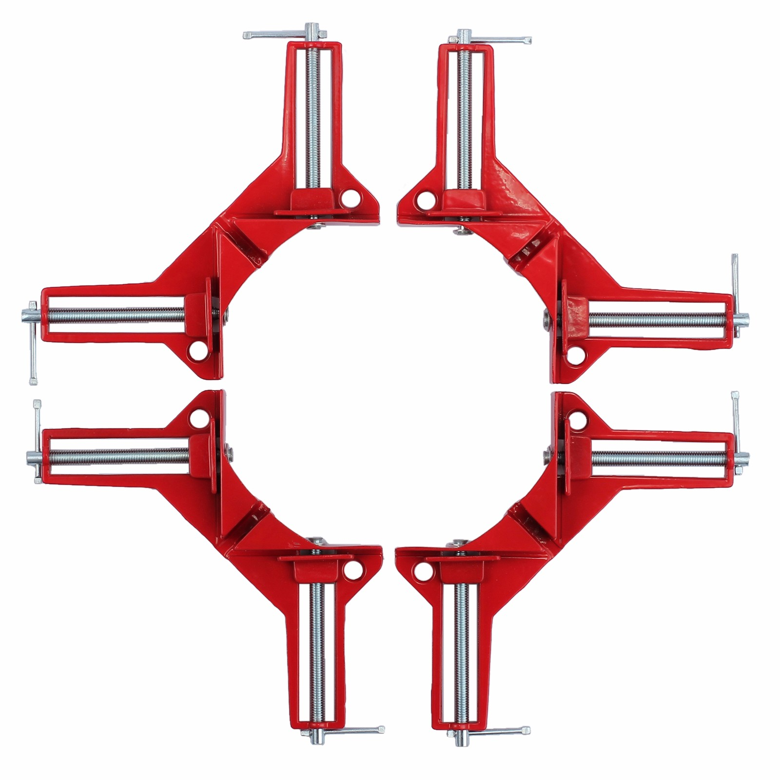 "ESYNIC 4pcs 90 Degree Angle Corner Clamp Holder 90 Degree Right Angle 3"" Corner Clamp Carbide Vice Clamps Picture Frame Corner Clamp Woodworking Metal Welding Frame Gussets Jig Tool"
