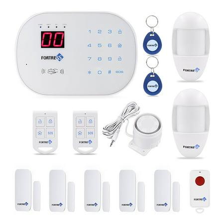 FORTRESS S03 WiFi DIY Home Wireless Landline Security Alarm System-Compatible Alexa
