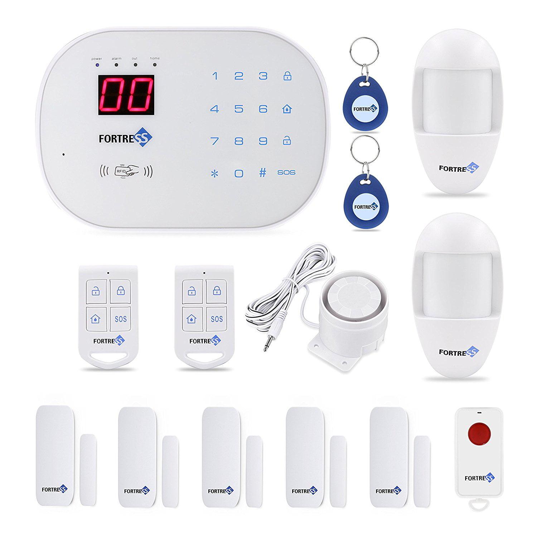 FORTRESS S03 WiFi DIY Home Wireless Landline Security Alarm System-Compatible Alexa App