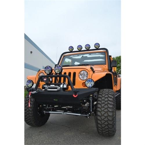 Body Armor Front Light Bar for 2007-2013 Jeep JK Wrangler JK6126 by Body Armor