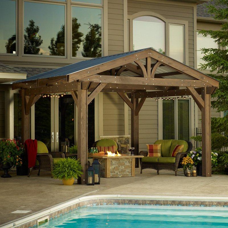 Outdoor GreatRoom Lodge II Wood Pergola