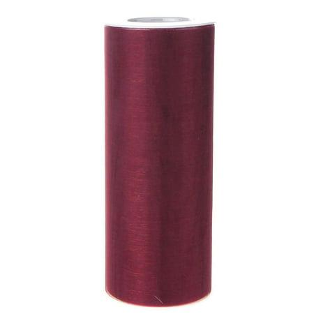 Organza Spool Roll, 6-Inch, 25 Yards, Burgundy