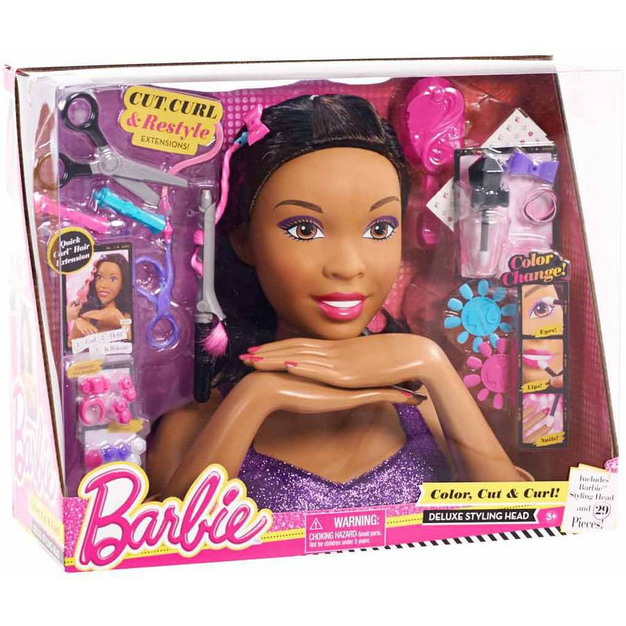 dolls hair styling deluxe color cut and curl styling walmart 3412