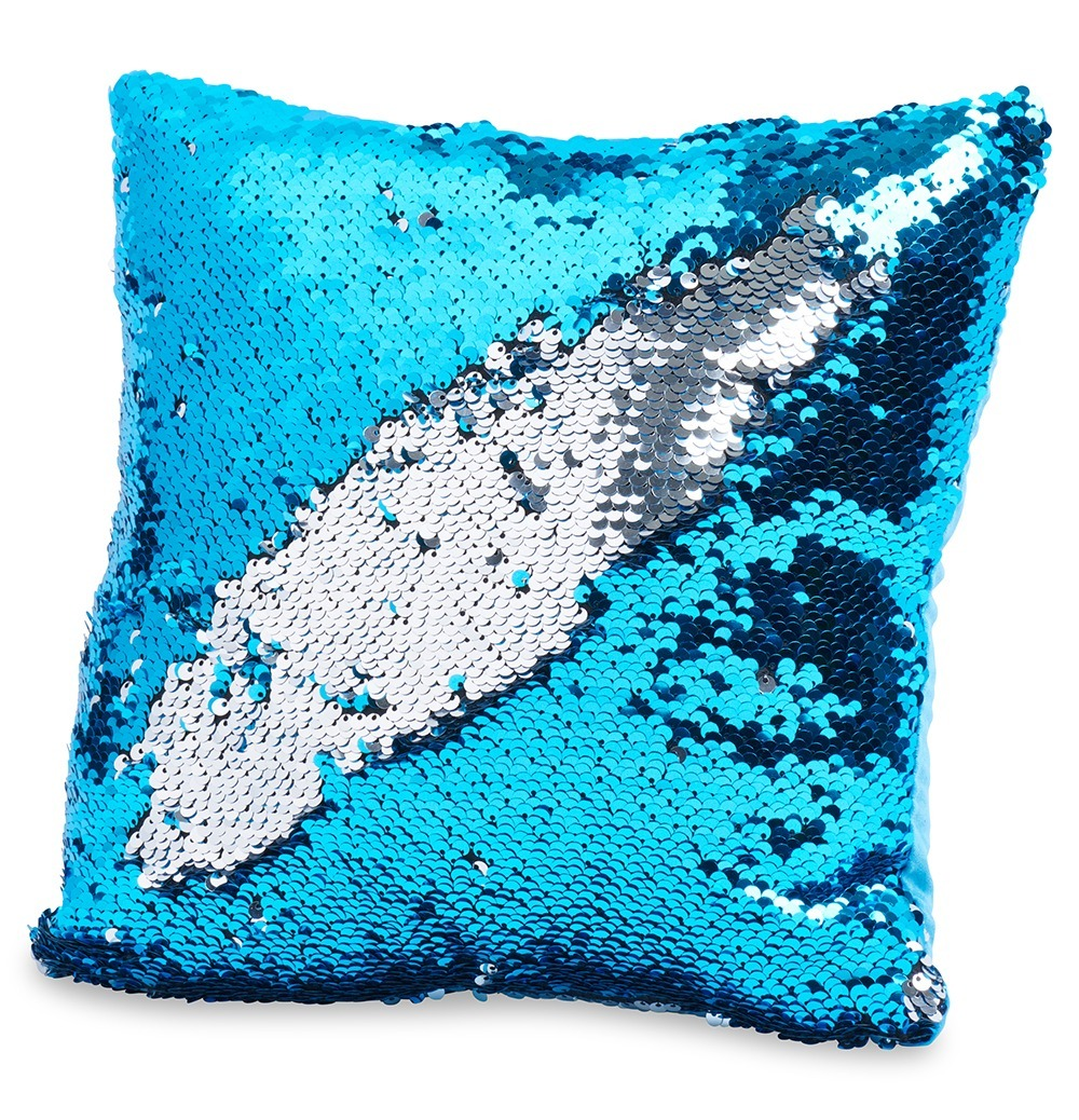 Throw Pillows For Couch 12 X 12 Also For Bed And Sofa Decorative Light Blue Silver Sequins Walmart Com Walmart Com