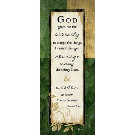 God Grant Me The Serenity Canvas Art Jennifer Pugh 10 X 20