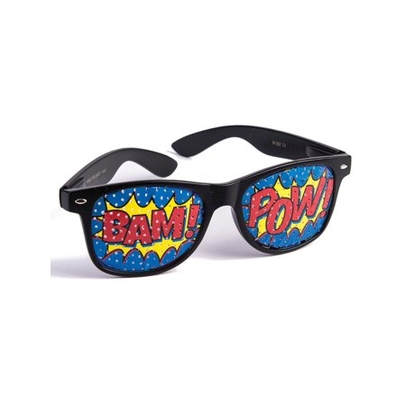 Comic Book Pop Art POW BAM Novelty Sunglasses Costume Accessory - Pebbles Bam Bam Costume