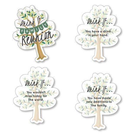 Drink If Game - Family Tree Reunion - Family Gathering Party Game - 24 Count ](Family Reunion Banners)