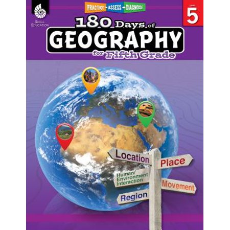 180 Days of Geography for Fifth Grade (Grade 5) : Practice, Assess, Diagnose - Teaching Theme 5th Grade