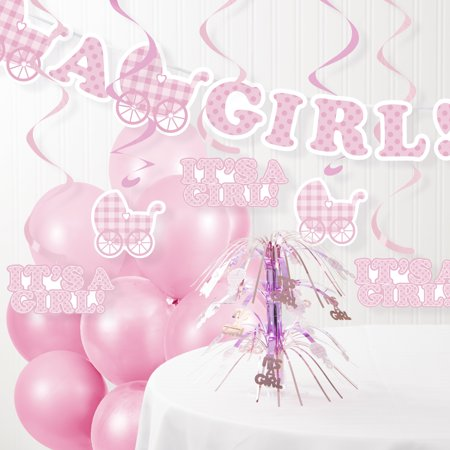 It S A Girl Baby Shower Decorations Kit Walmart Com