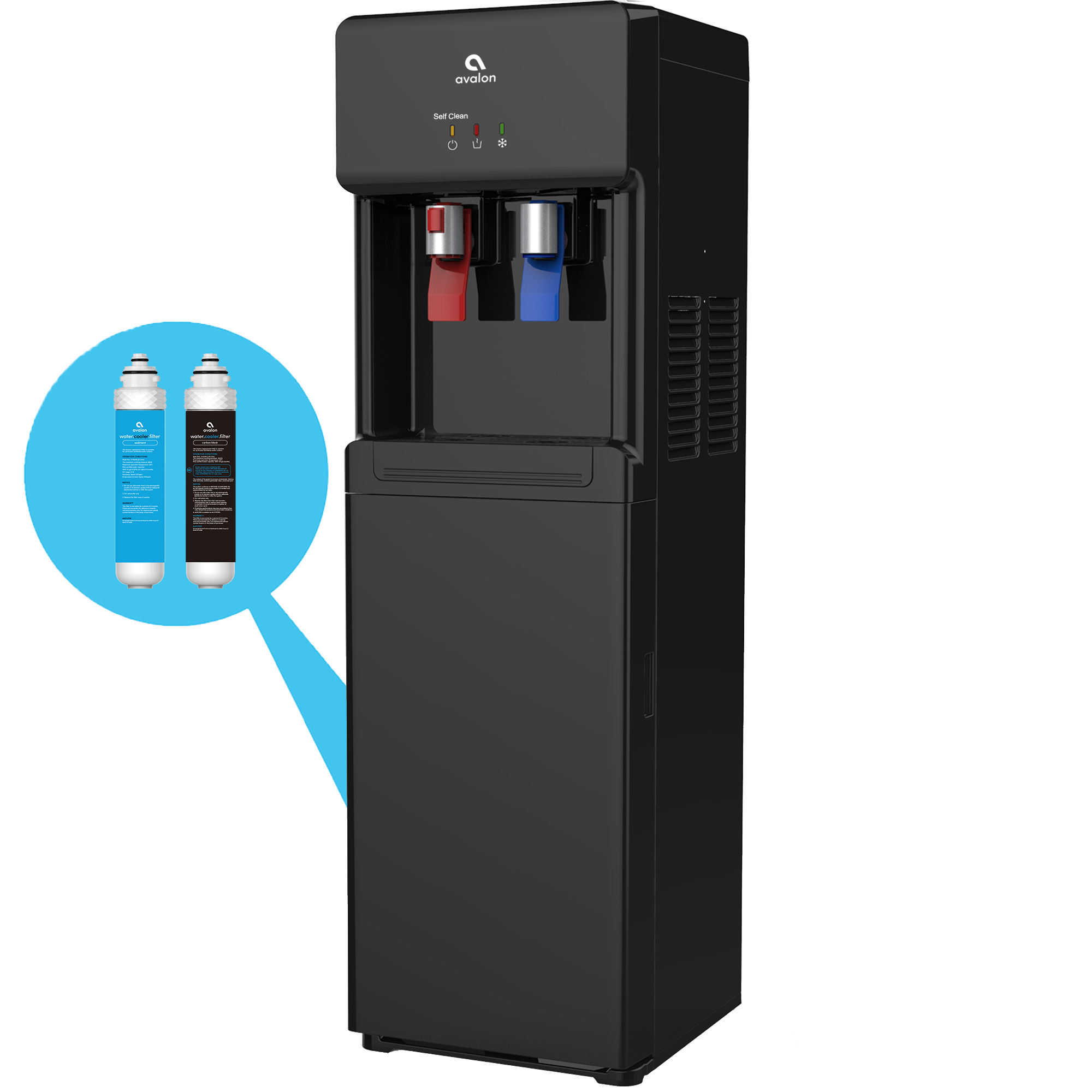 Avalon Self Clean Bottleless Hot/Cold Water Cooler, NSF UL/Energy Star, Black