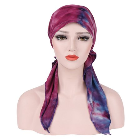 Chemotherapy Cap Cambered Floral Print Cap Muslim Turban for Women - image 9 de 9