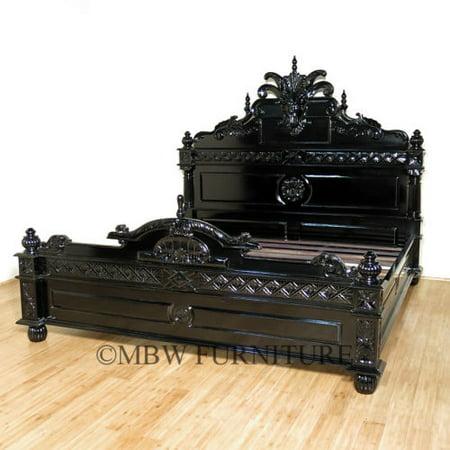 WHOLESALE LOT – 8 BEDS - Black E. King Gargoyle Bed F-734-57 – QTY 8 - Gargoyle Feet
