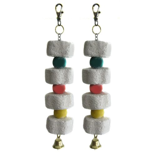 Alfie Pet by Petoga Couture Set of 2 Small Animal Mineral Stone Flower Chew Charm for Guinea Pig, Rabbit,... by