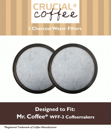 2 Mr. Coffee WFF-3 Charcoal Water Filters, Part # 113035-001-000
