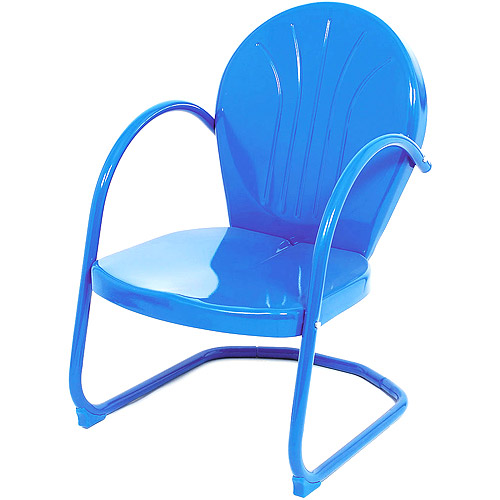 Lb International Summer 91402 Metal Tulip Chair - Blue