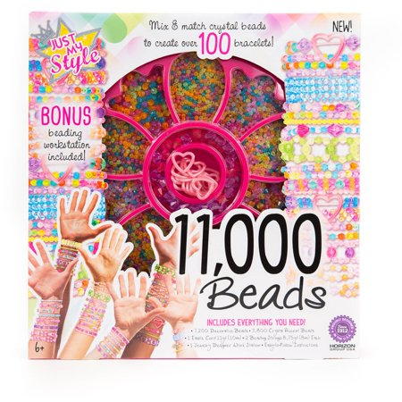 Horizon Group Just My Style 11000 Beads Bracelet Kit, 1 Each - Bead Bracelet Kits