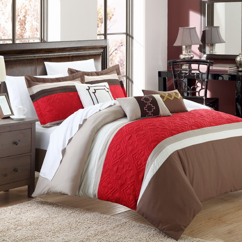 Chic Home Corrine 10 Piece Embroidered Comforter Set