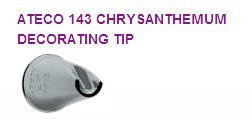 Cake / Cupcake Decorating Chrysanthemum Icing Tip #143