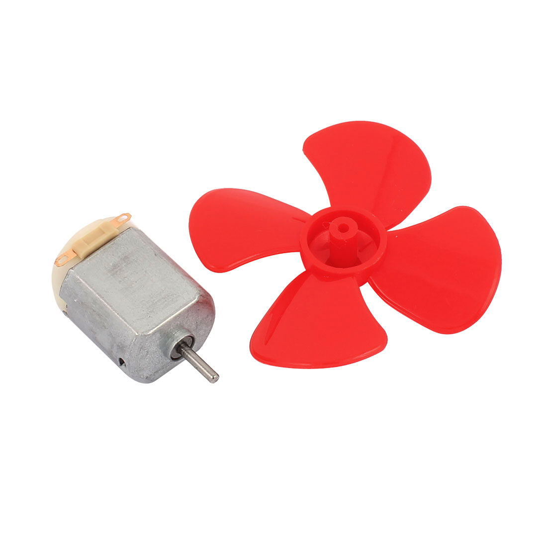 2Pcs DC12V 0.04A 14000RPM Aircraft Model Motor 4-vane Propeller 56mmx2mm - image 4 of 5