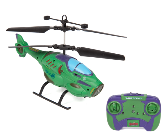 Marvel Hulk Shaped 2 Ch IR Helicopter by World Tech Toys
