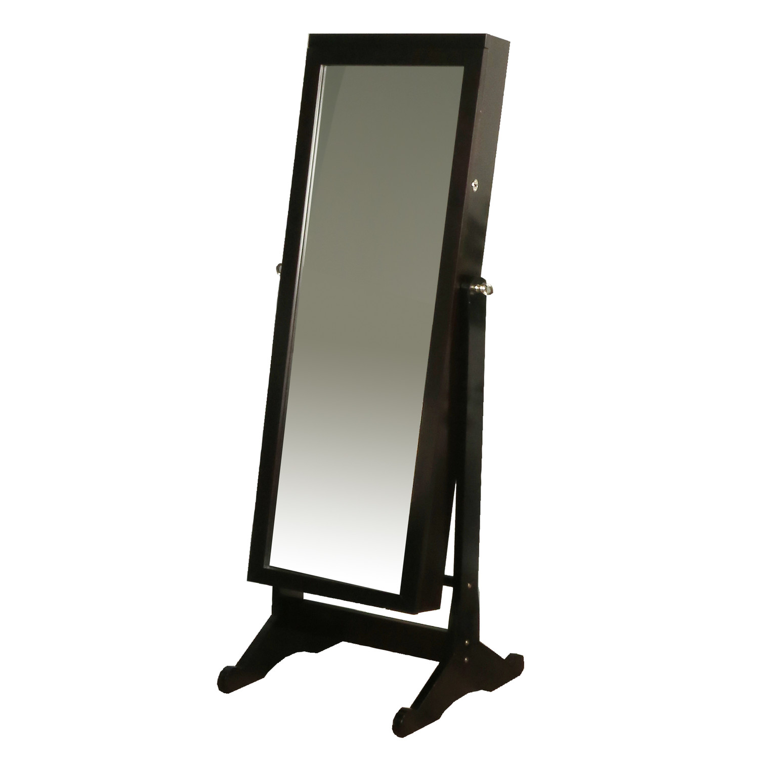Richards Homewares Jewelry Espresso Standing Armoire with Led Light by Overstock