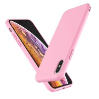 "Cell Phone Cases For 6.5"" iPhone XS Max, Njjex Liquid Silicone Gel Rubber Shockproof Case Ultra Thin Fit iPhone XS Max Case Slim Matte Surface Cover For Apple iPhone XS Max 2018 -Baby Pink"