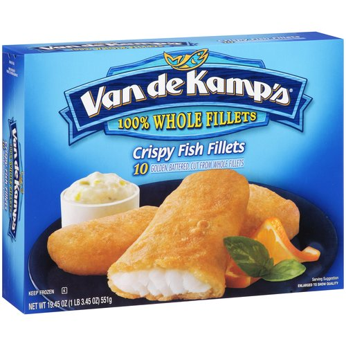 Van De Kamps 10 Ct Fish Fillets, 21.52 Oz