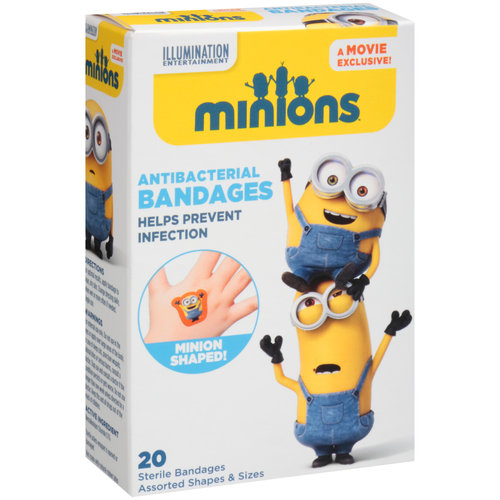 Despicable Me2 Antibacterial Bandages, 20 count