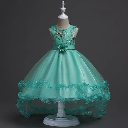 BOBORA US Kids Girl Flower Princess Dress Bridesmaid Party Wedding ...