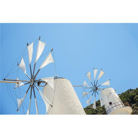 Posterazzi DPI12254306LARGE Windmills Against A Blue Sky Lasithi Plateau - Crete Greece Poster Print - 38 x 24 in. - Large - image 1 of 1