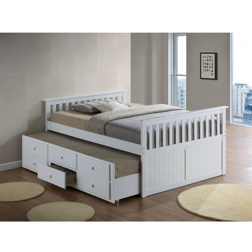Broyhill Kids Marco Island Full Captain's Bed with Trundle, White