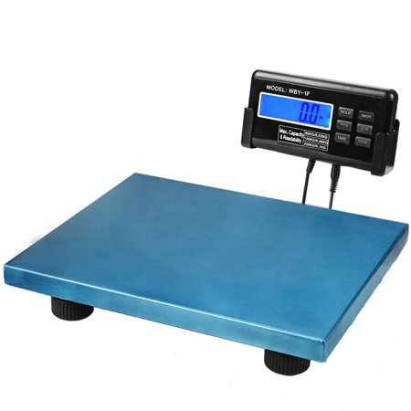 Digital Shipping Scale Blue Platform Postal Parcels Weigh For Vet Veterinary Animal Pet Dog Cat Livestock Weight 440Lbs 200Kg Capacity With Lcd Backlight And Ac Adapter