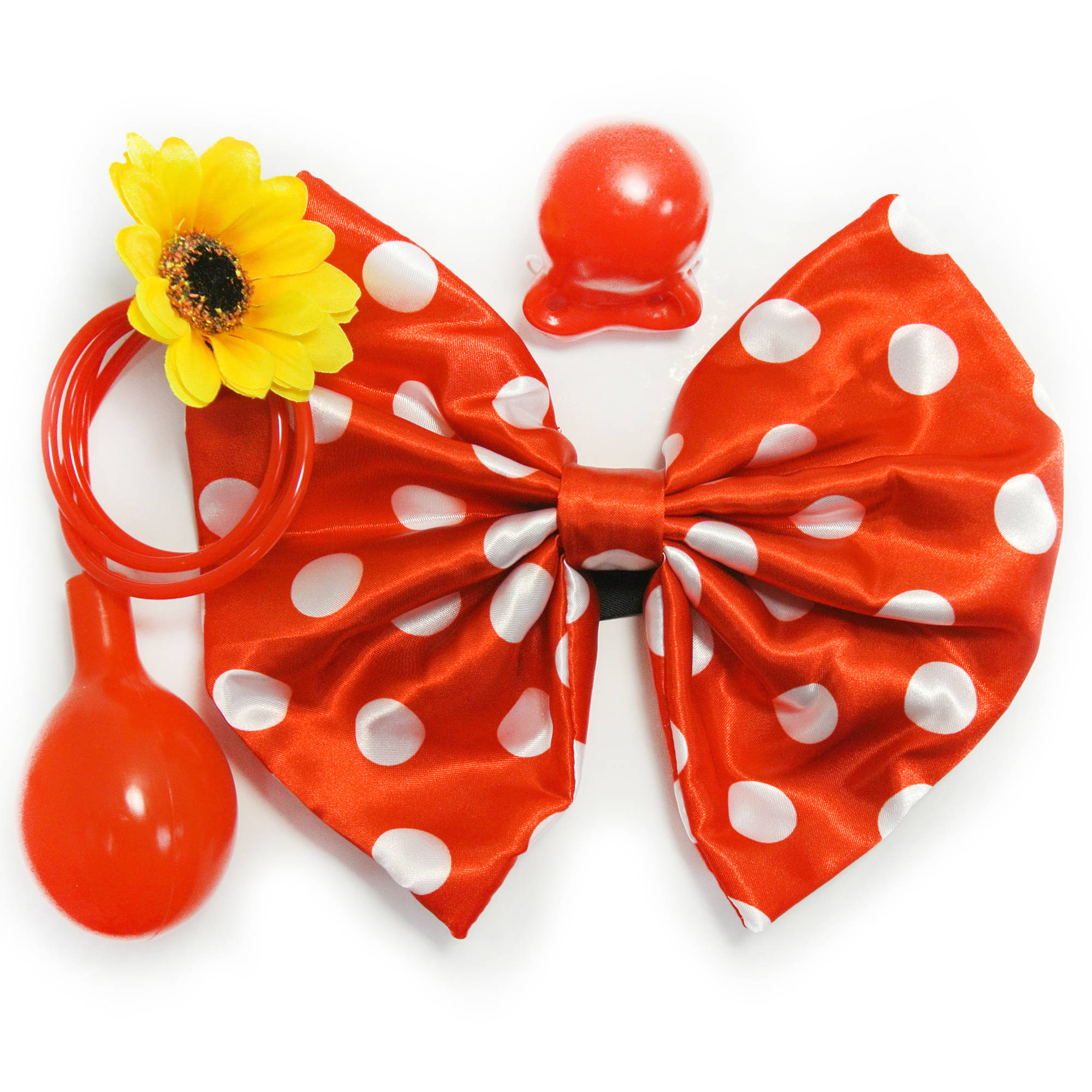 Polka Dot Clown Halloween Costume Accessory Kit
