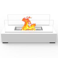 Regal Flame ET7005WHT Utopia Ventless Tabletop Portable Bio Ethanol Fireplace in White