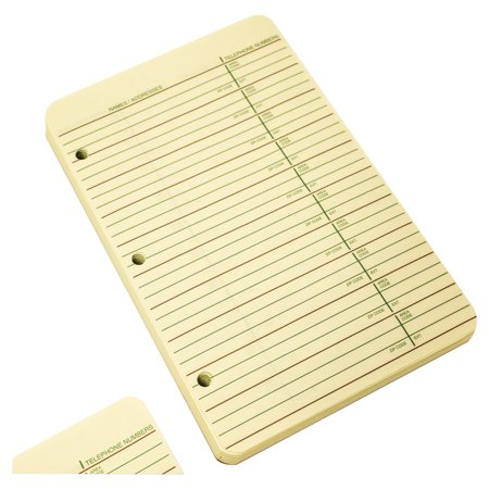 Wilson Jones Looseleaf Phone Address Book Refill  5 1 2 X 8 1 2  80 Sheets