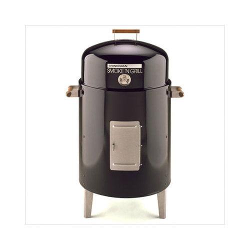 Brinkmann 810-5301-6 Smoke N Grill Charcoal Smoker & Grill- Black