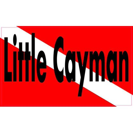 5in x 3in Little Cayman Dive Flag Decal Vinyl Decal Car Bumper Stickers