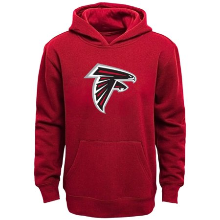 new style e3462 38991 Atlanta Falcons Youth Team Logo Pullover Hoodie - Red